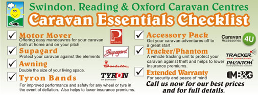 Caravan Essentials Checklist from Reading Caravans